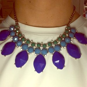 J. Crew Blue/Green Statement Necklace